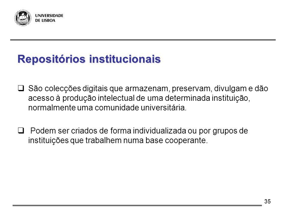 Repositórios institucionais