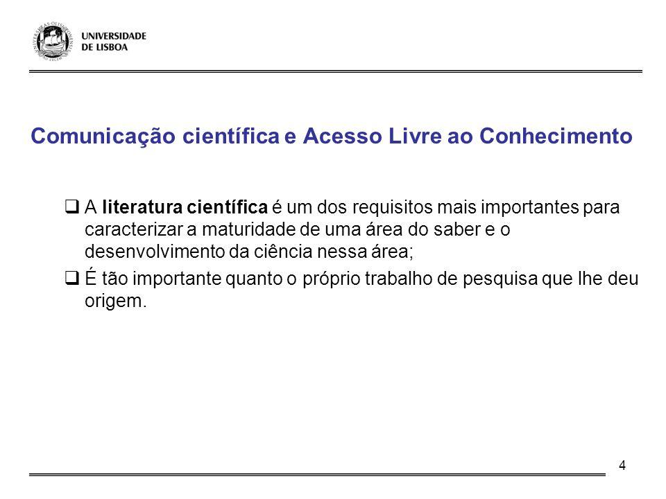 Comunicação científica e Acesso Livre ao Conhecimento