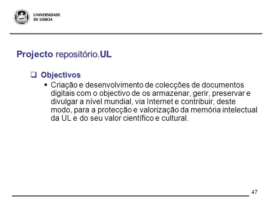 Projecto repositório.UL