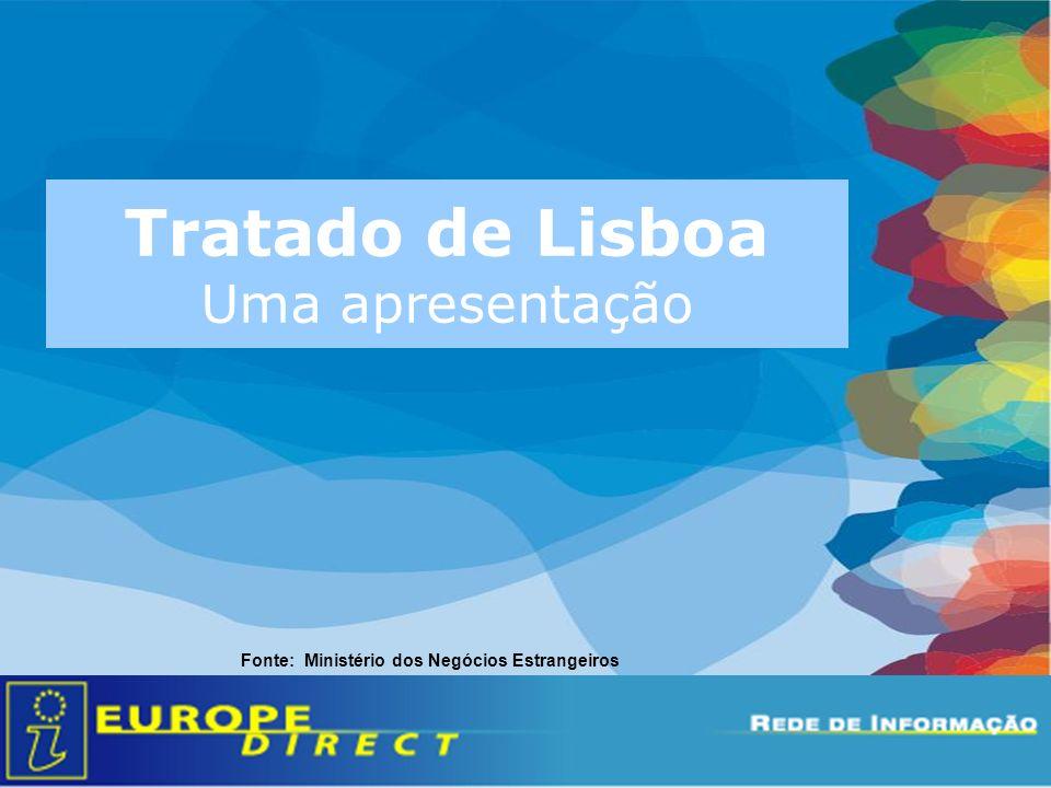 Tratado de Lisboa Uma apresentação