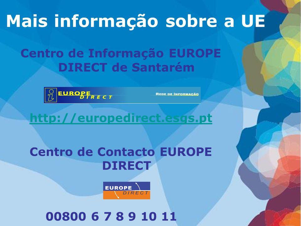Mais informação sobre a UE