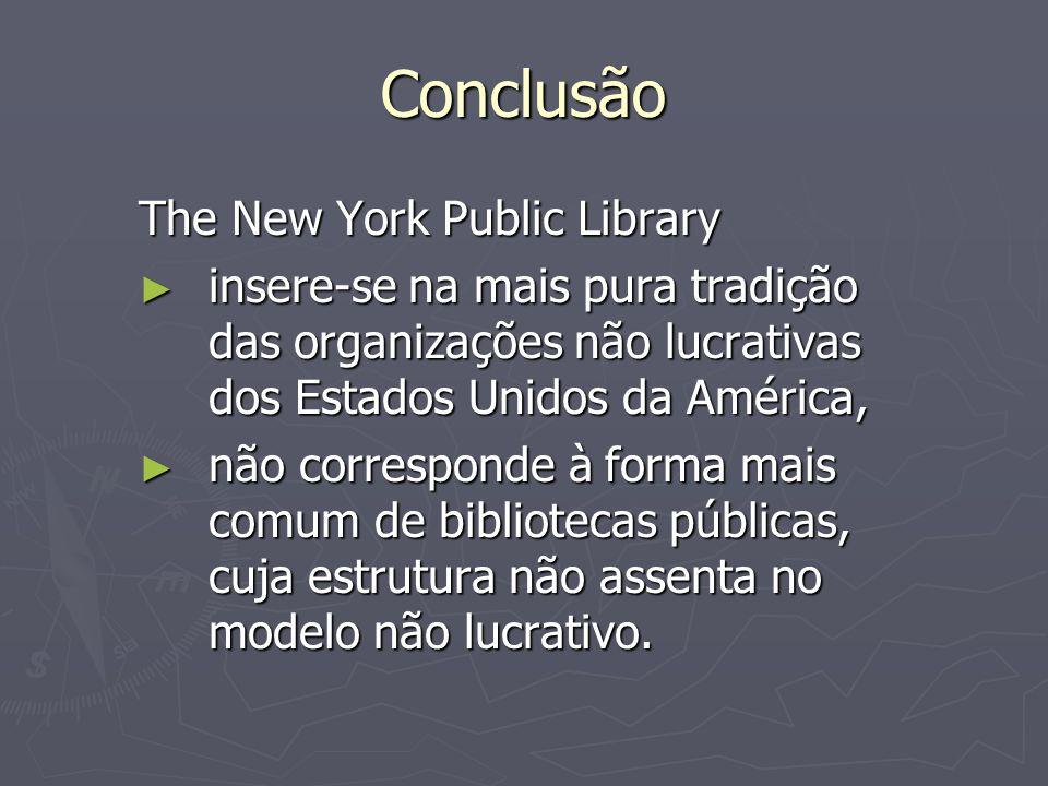 Conclusão The New York Public Library