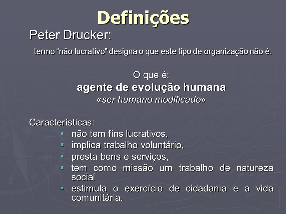 Definições Peter Drucker: