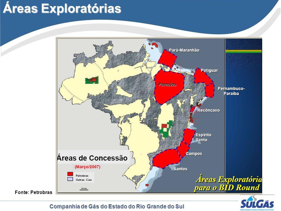 Áreas Exploratórias Fonte: Petrobras