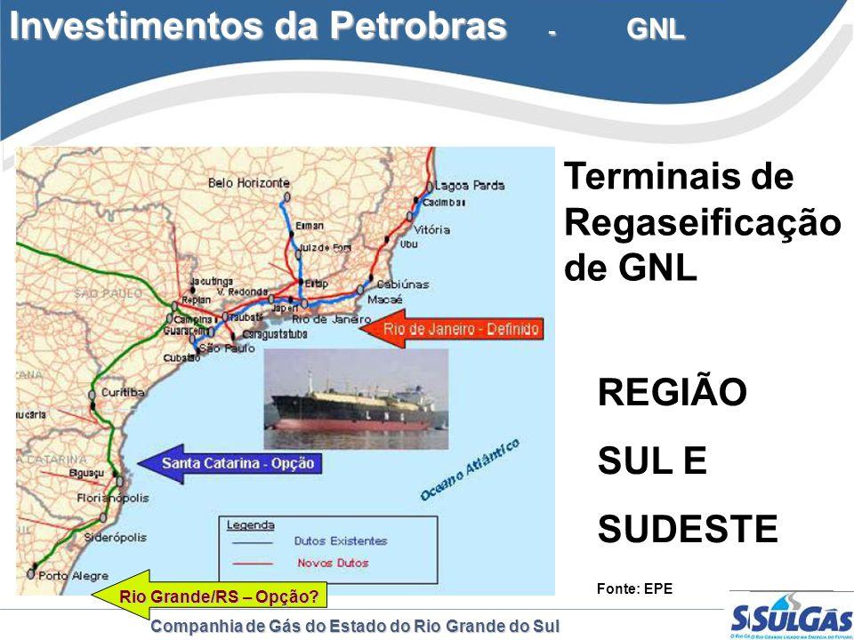 Investimentos da Petrobras - GNL