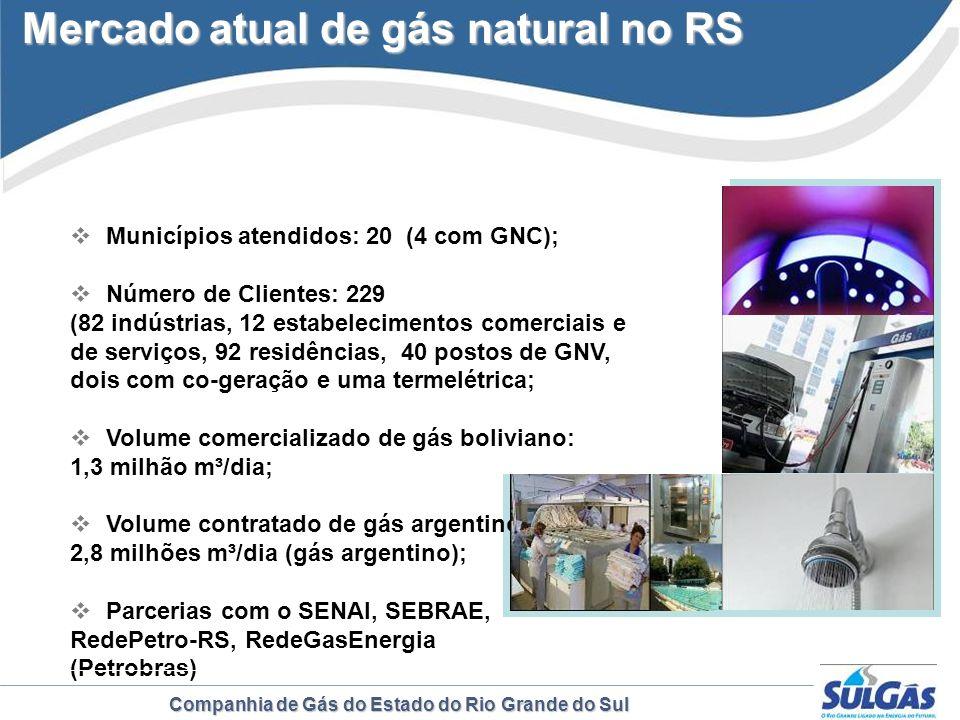 Mercado atual de gás natural no RS