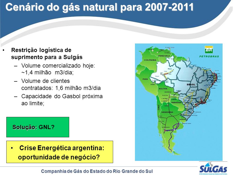 Cenário do gás natural para 2007-2011