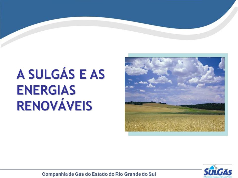 A SULGÁS E AS ENERGIAS RENOVÁVEIS