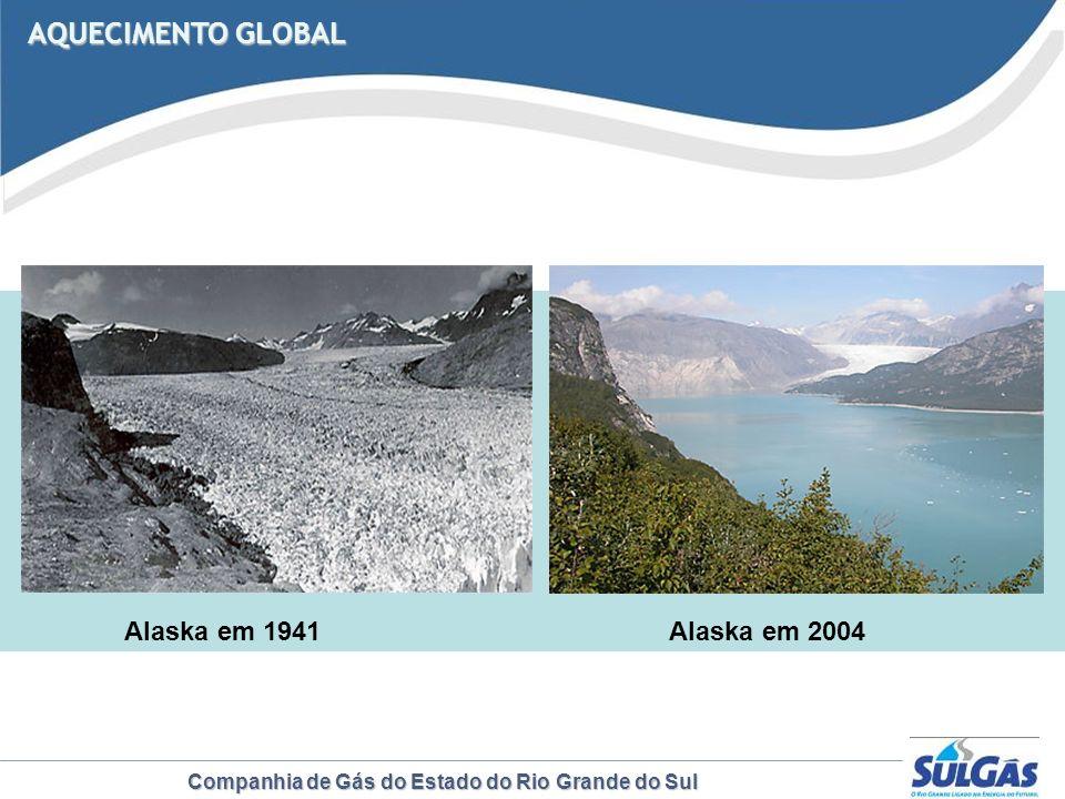 AQUECIMENTO GLOBAL Alaska em 1941 Alaska em 2004