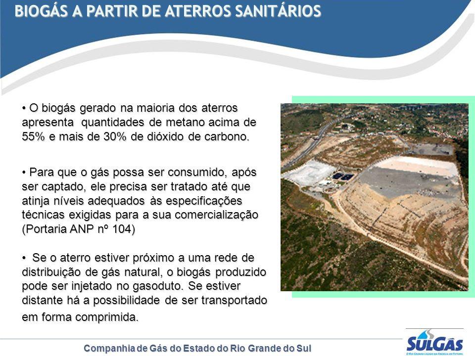 BIOGÁS A PARTIR DE ATERROS SANITÁRIOS