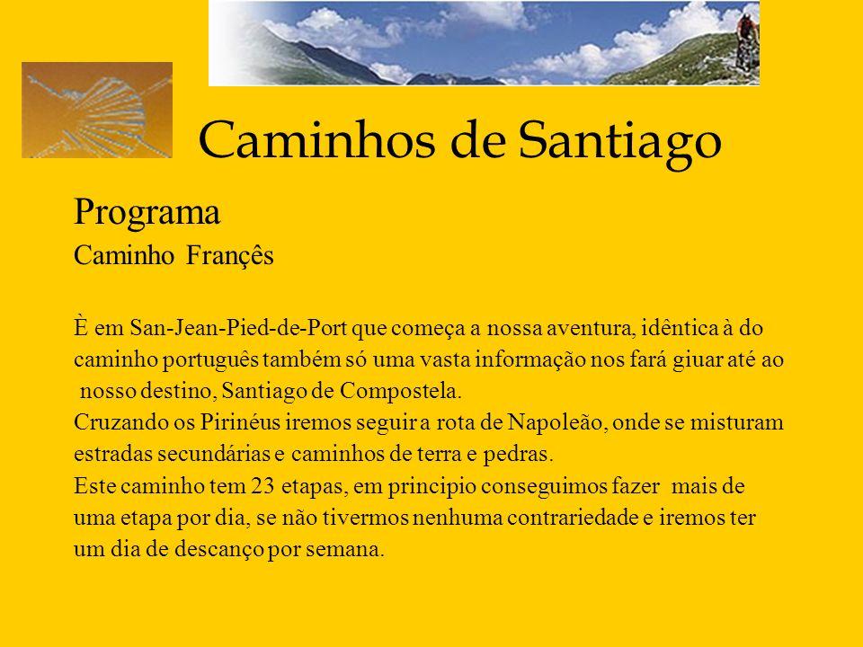 Caminhos de Santiago Programa Caminho Françês