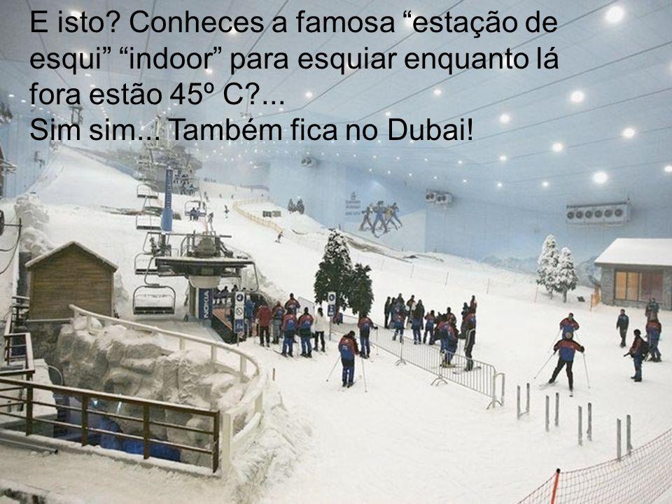 E isto Conheces a famosa estação de esqui indoor para esquiar enquanto lá fora estão 45º C ...