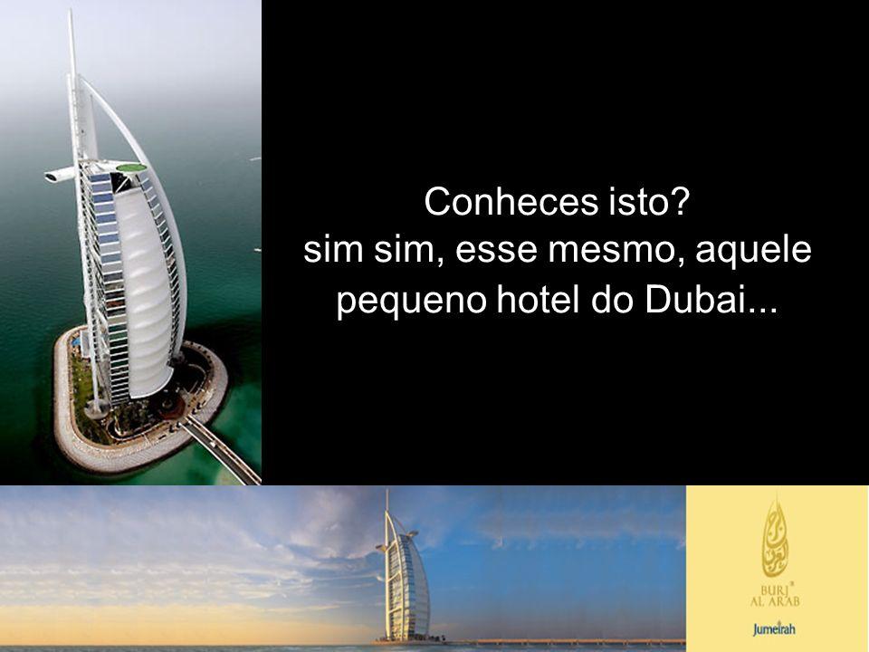 sim sim, esse mesmo, aquele pequeno hotel do Dubai...