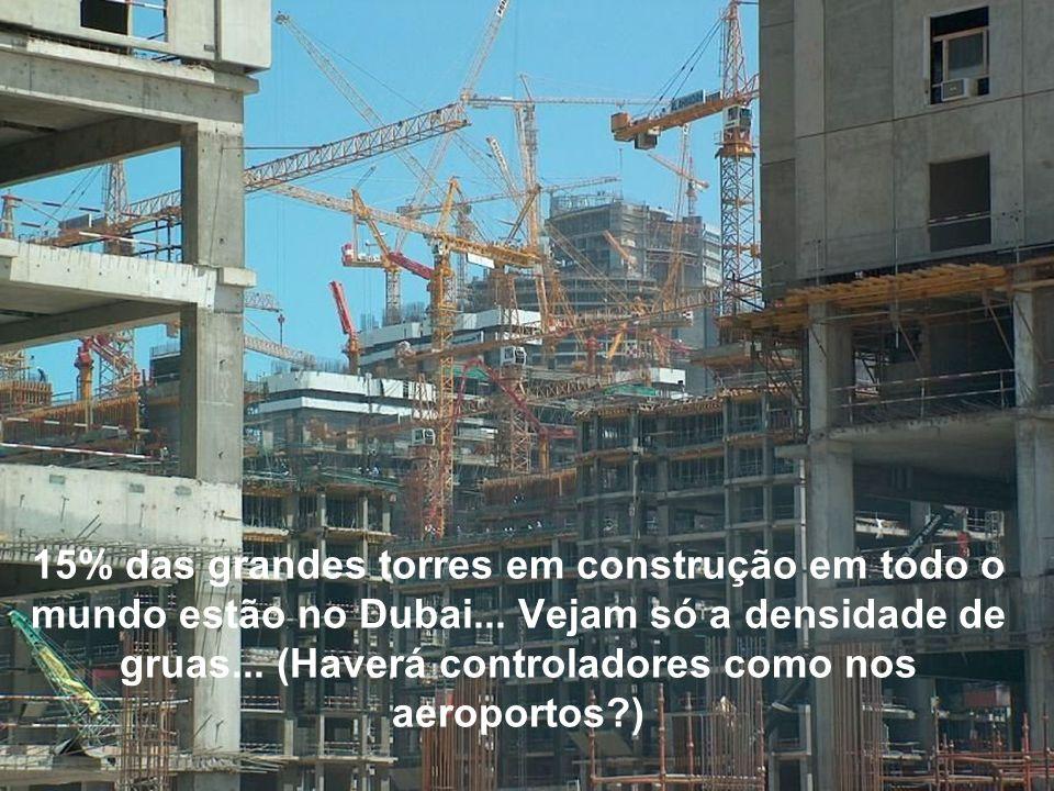 15% das grandes torres em construção em todo o mundo estão no Dubai