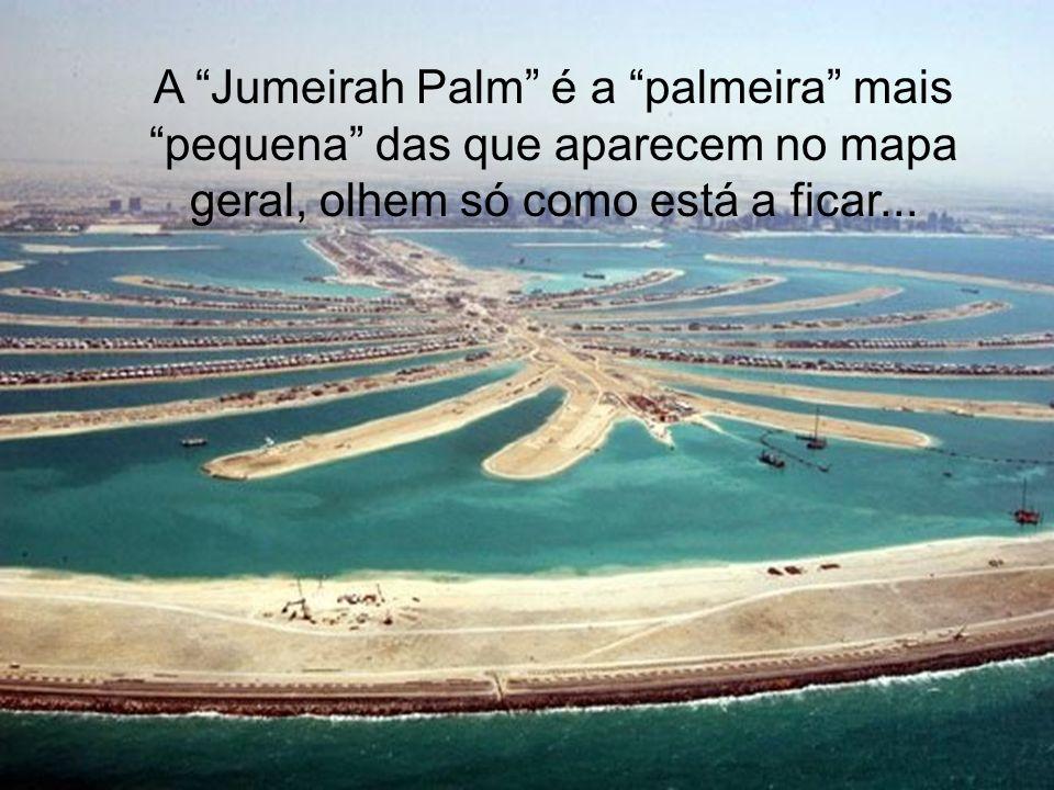 A Jumeirah Palm é a palmeira mais pequena das que aparecem no mapa geral, olhem só como está a ficar...