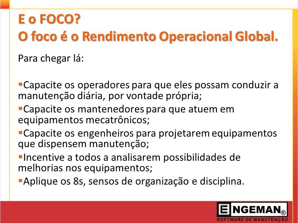 E o FOCO O foco é o Rendimento Operacional Global.