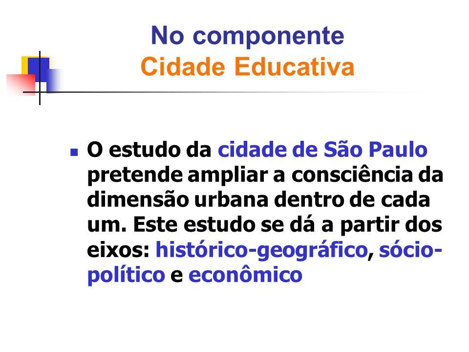 No componente Cidade Educativa