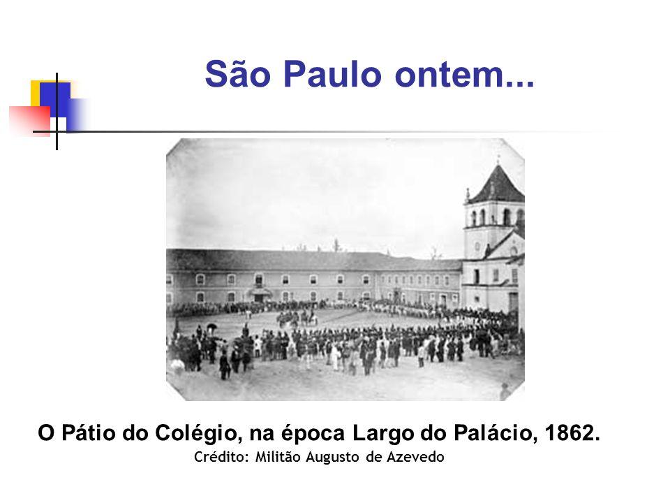São Paulo ontem... O Pátio do Colégio, na época Largo do Palácio, 1862.