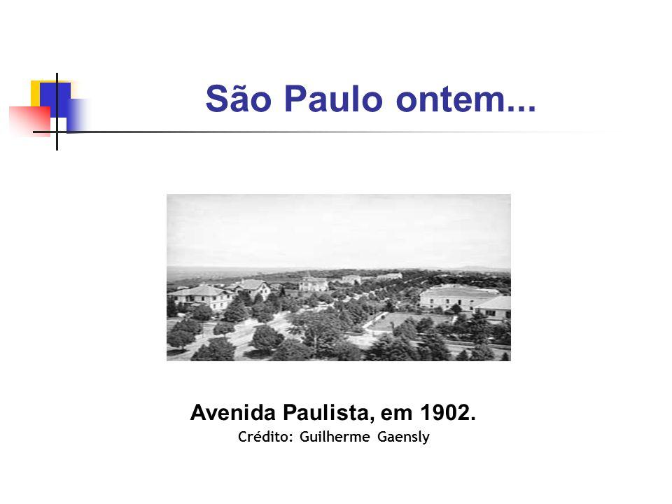 Avenida Paulista, em 1902. Crédito: Guilherme Gaensly
