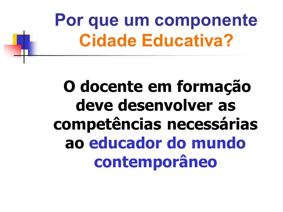 Por que um componente Cidade Educativa