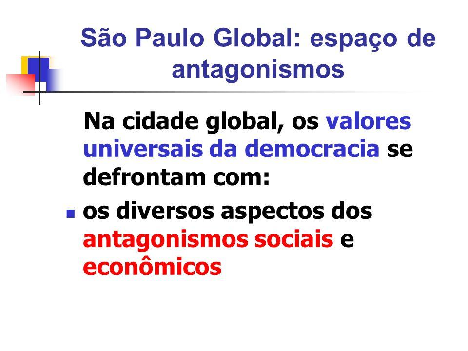 São Paulo Global: espaço de antagonismos
