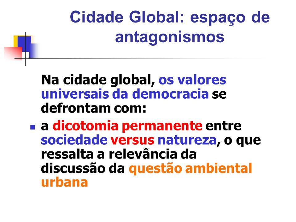 Cidade Global: espaço de antagonismos