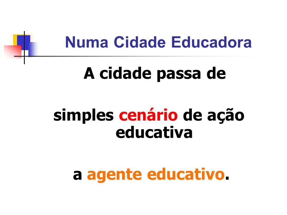 simples cenário de ação educativa