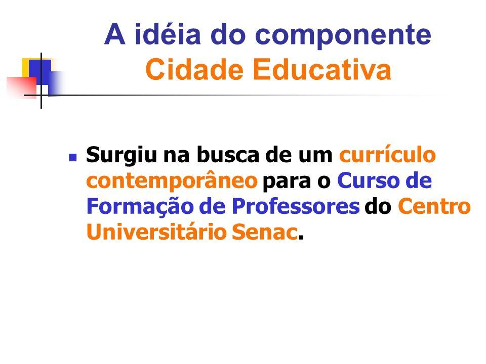A idéia do componente Cidade Educativa