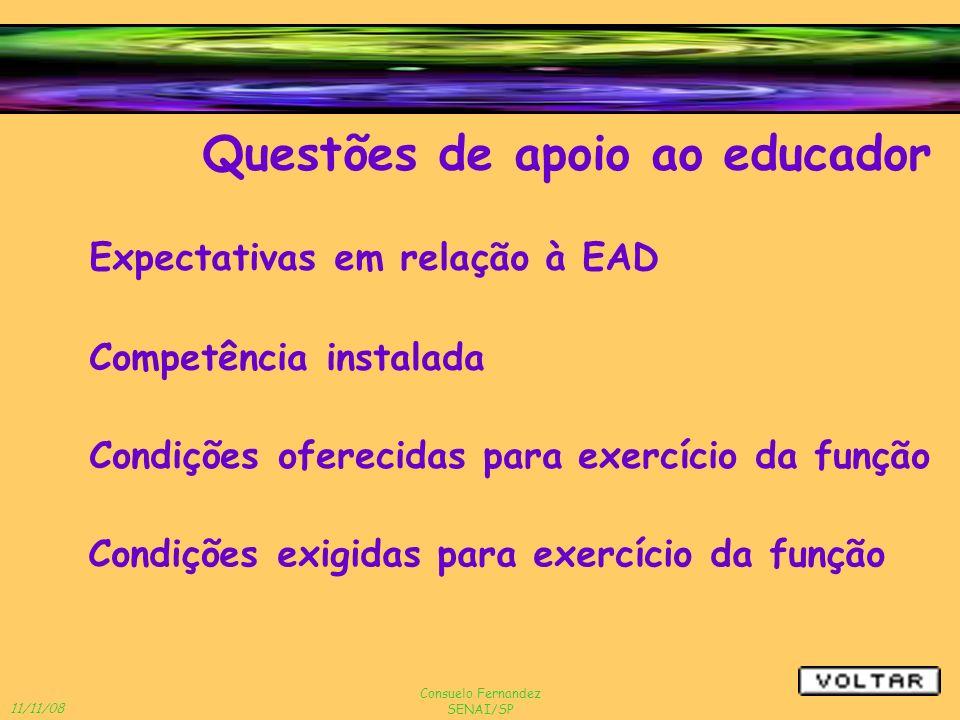 Questões de apoio ao educador