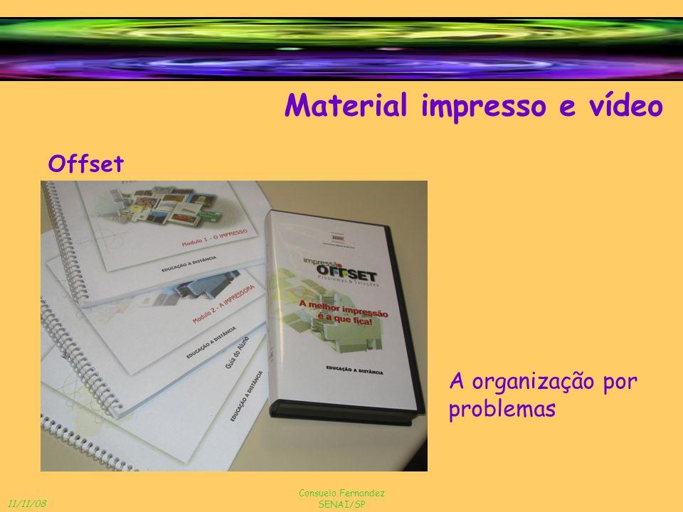 Material impresso e vídeo