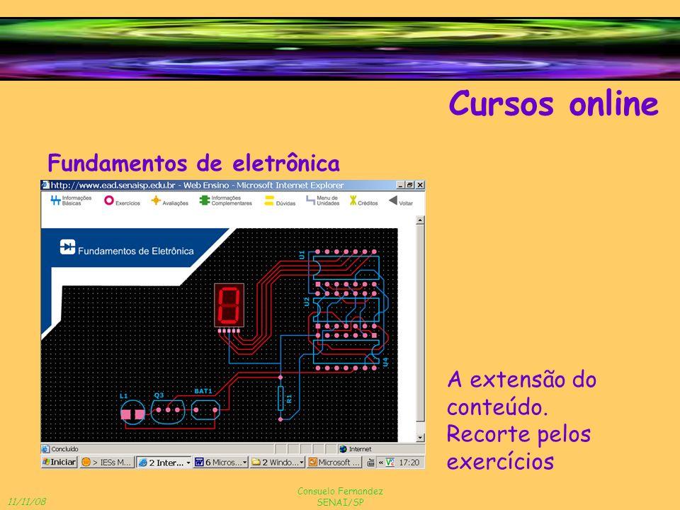 Cursos online Fundamentos de eletrônica A extensão do conteúdo.