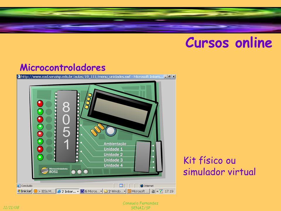 Cursos online Microcontroladores Kit físico ou simulador virtual