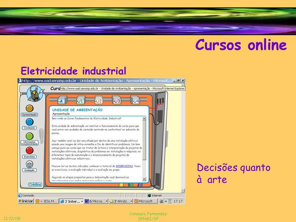 Cursos online Eletricidade industrial Decisões quanto à arte