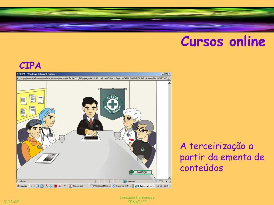 Cursos online CIPA A terceirização a partir da ementa de conteúdos