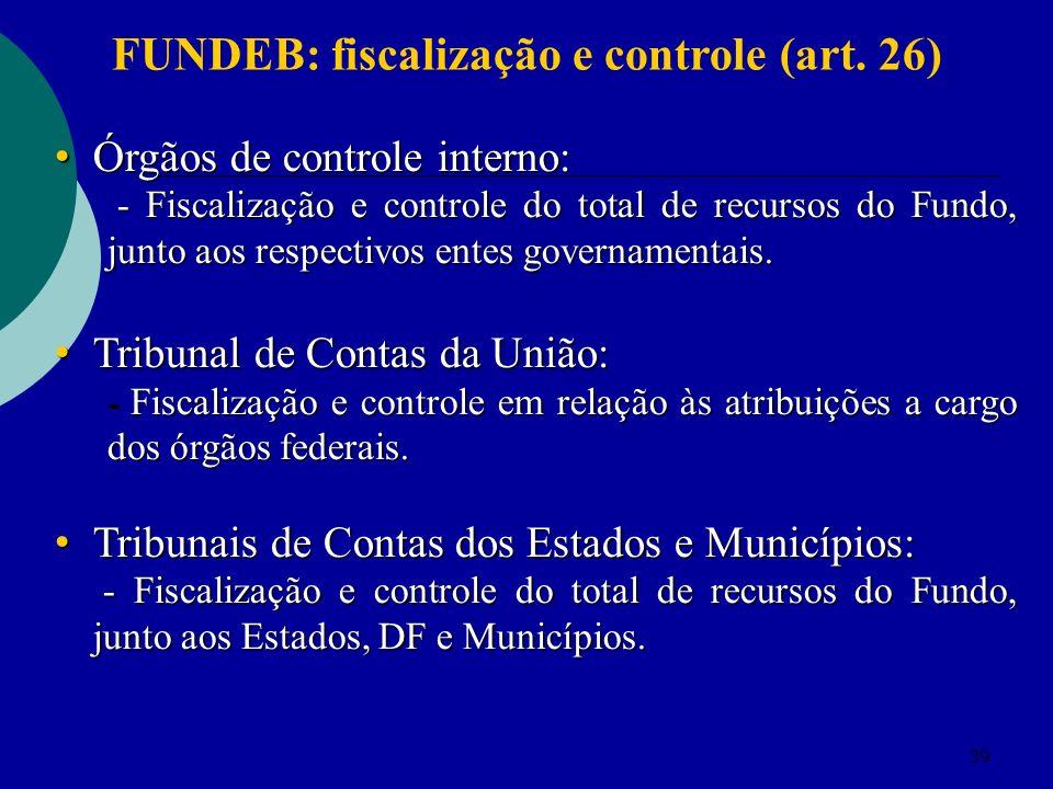 FUNDEB: fiscalização e controle (art. 26)