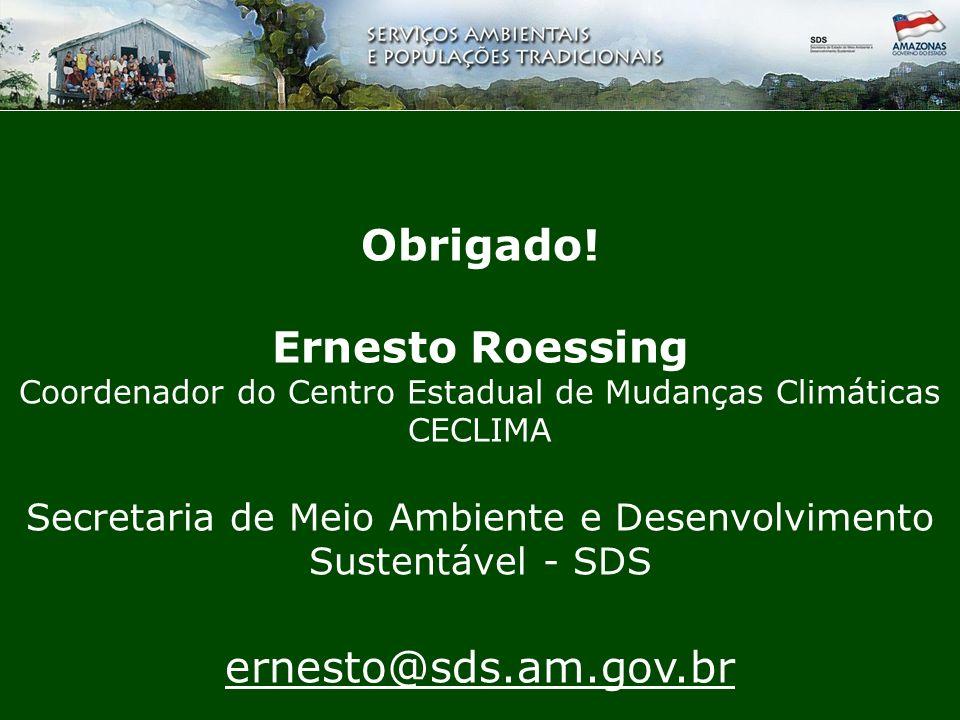 Obrigado! Ernesto Roessing