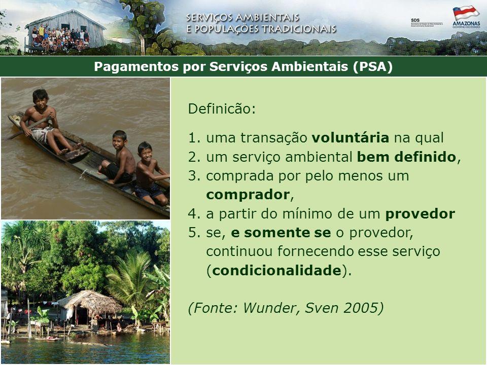 Pagamentos por Serviços Ambientais (PSA)