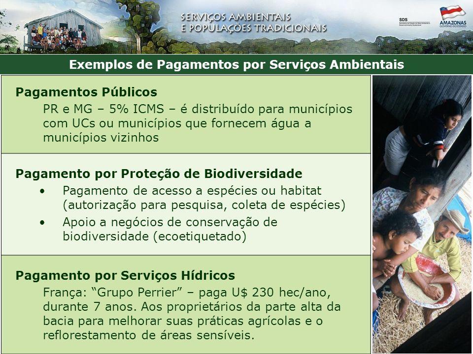 Exemplos de Pagamentos por Serviços Ambientais