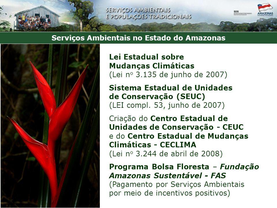 Serviços Ambientais no Estado do Amazonas