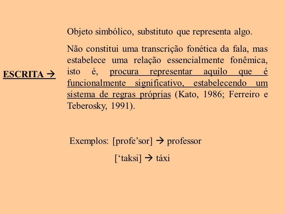 Objeto simbólico, substituto que representa algo.