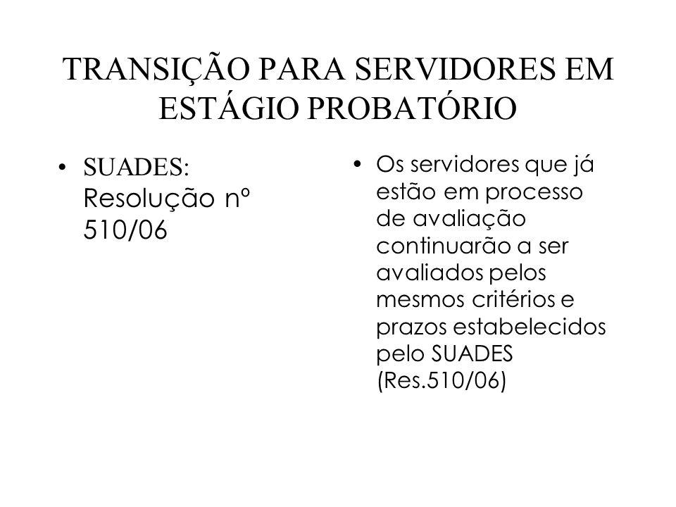 TRANSIÇÃO PARA SERVIDORES EM ESTÁGIO PROBATÓRIO