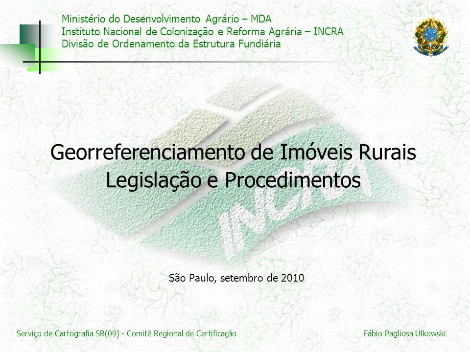 Georreferenciamento de Imóveis Rurais Legislação e Procedimentos