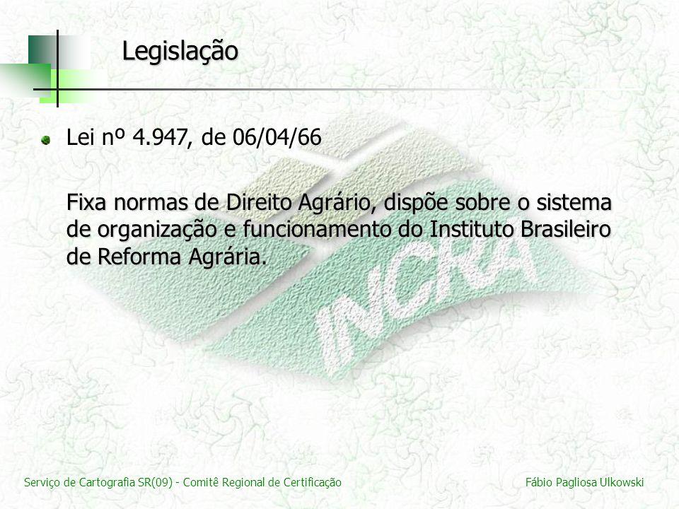 Legislação Lei nº 4.947, de 06/04/66.