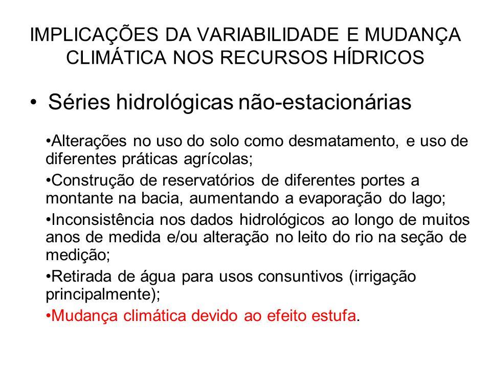IMPLICAÇÕES DA VARIABILIDADE E MUDANÇA CLIMÁTICA NOS RECURSOS HÍDRICOS