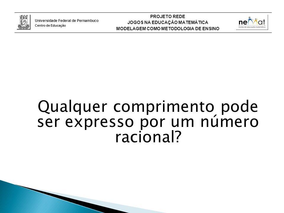 Qualquer comprimento pode ser expresso por um número racional