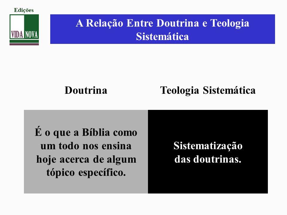 A Relação Entre Doutrina e Teologia Sistemática Doutrina