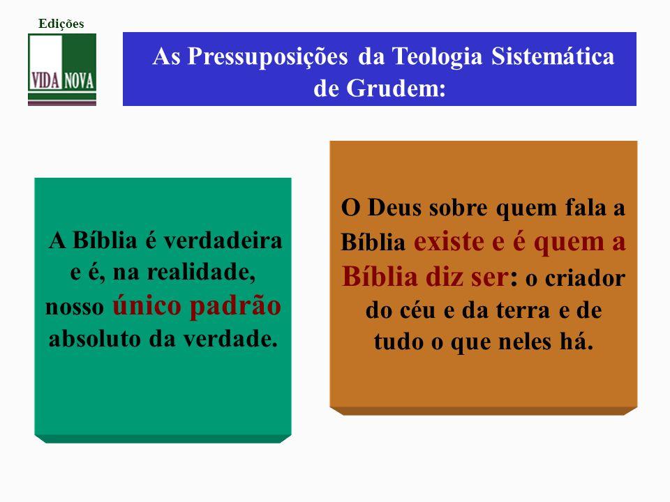 As Pressuposições da Teologia Sistemática de Grudem: