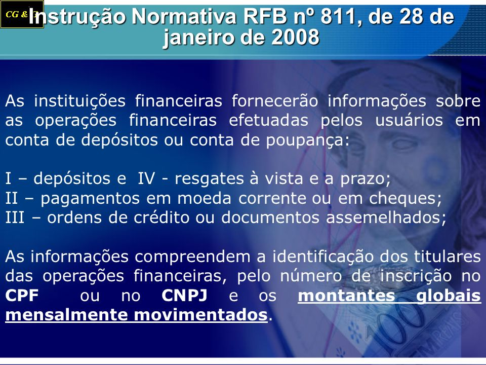 Instrução Normativa RFB nº 811, de 28 de janeiro de 2008