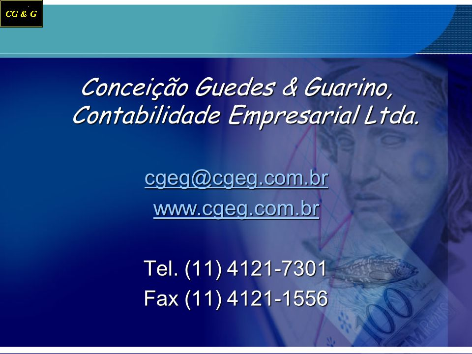 Conceição Guedes & Guarino, Contabilidade Empresarial Ltda.