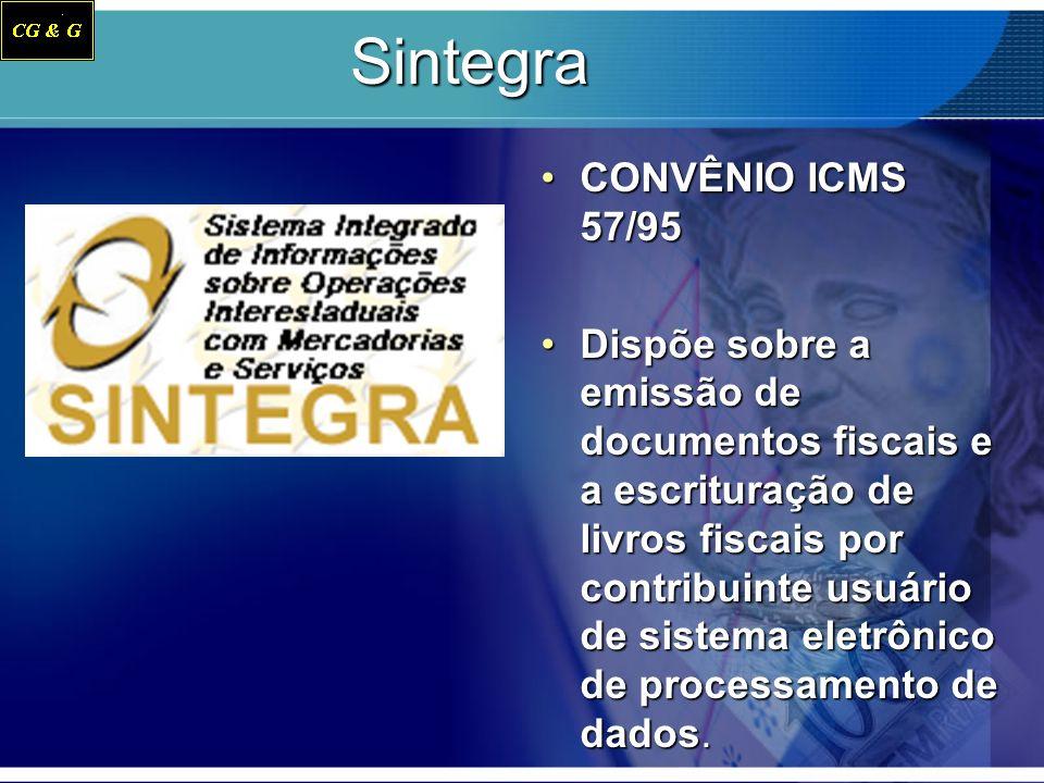 Sintegra CONVÊNIO ICMS 57/95